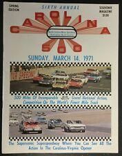 Official NASCAR 1971 Rockingham Carolina 500 Vintage Race Program - C Glotzbach