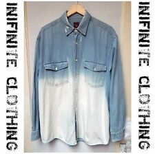 Grunge 100% Cotton Vintage Casual Shirts & Tops for Men