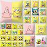 Home Decor Cute Cartoon SpongeBob Pillowcase Sofa Car Pillow Case Cushion Cover