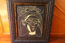 HIGH QUALITY REPRODUCTION PICASSO LITHOGRAPH IN A HIGHLY ORNATE QUALITY FRAME