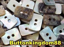 Lot 10 24L 15.2mm RECTANGLE Natural Real Pearl Shell Button Sewing Crafts Agoya