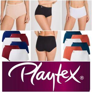 Playtex Cherish Maxi Briefs 6 Pack Pure Cotton Stretch Knickers P00BQ