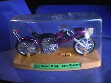 1971 ZEE Toys Ezee Riders Super Drag Motorcycle in clear case purple Hong Kong