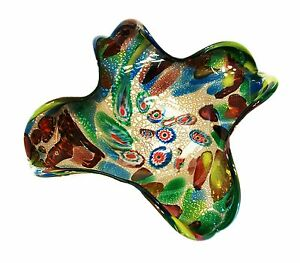 AVeM - Murano Millefiori Glass Bowl with Inclusions - Italy - Mid 20th Century