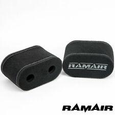 2 x RAMAIR Capa Doble Rendimiento Espuma Carburador Funda Filtros De Aire DCOE