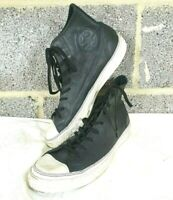 Black Leather Converse Chuck Taylor All Star LPII - UK Size 10 - 139829C - Great