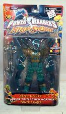 Power Rangers Ninja Storm Warrior Triple Zord Morphin Green Samurai To Spider