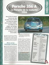 FICHE TECHNIQUE AUTOMOBILE PORSCHE 356 A 1956