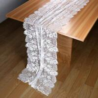 10×Wedding Table Runner White Lace Table Runner Boho Floral Table Cloth Decor