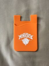 New York Knicks Silicone ID/Credit Card Holder Case for Smart Phone Pouch/Sleeve