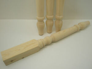 4 x WOODEN PINE FARMHOUSE TABLE LEGS 740mm X 70mm (WT004 )
