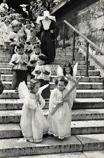 1952 Paris Children Catholic Religion Church Nun Angel Photo By Cartier-Bresson