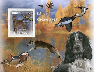 Guinea-Bissau Hunting Dogs & Birds on Stamps 2009 MNH Ducks Irish Setter 1v S/S