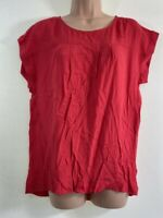 NEXT red boxy slouch relaxed fit blouse top size 10 euro 38