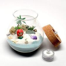 Pixie Decorative Jars Glare Miniature Mermaid Scene Glass Jar, With Two Led All