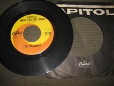"""The Shadows """"Don't It Make You Feel Good"""" 7"""" Canadian import single 45 rpm"""