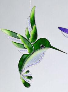 Fensterschmuck Eisvogel Tiffany grün Fensterdeko Dekohänger Hängedeko