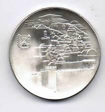 ISRAEL 1968 JERUSALEM SILVER COIN 10IL PROOF 26g 37mm