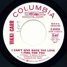 VIKKI CARR - I Can't Give Back the Love- MOTOWN DJ VG++