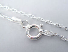 """17.7"""" ITALIAN STERLING SILVER CABLE CHAIN NECKLACE 1.2mm #9103"""