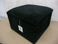 """Footstool With Storage In A Black Jumbo Cord Fabric Size 24"""" x 24"""" x 14"""" High"""
