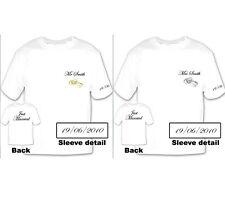 Personalised Mr & Mrs ring design T-shirts - ideal honeymoon gift