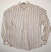 Tommy Bahama Jeans Mens Casual L/S Striped Shirt Sz XL 100% Cotton