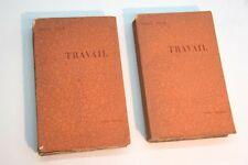 Bibliophilie - Emile Zola - Travail - en édition originale sur Hollande