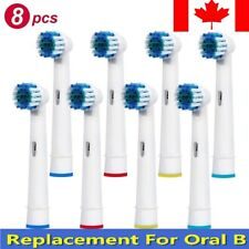 Replacement Soft Bristles Electric Toothbrush Head 8 Pack For Oral B Clean CA SL