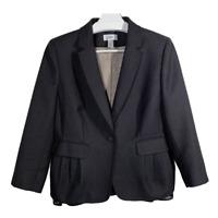 Ann Taylor Loft Womens Blazer Suit Jacket Coat Button Ruffles Ladies Work Size 8