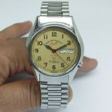 VINTAGE MEN'S WEST END WATCH CO. SOWAN PRIMA AUTOMATIC DAY & DATE WORKING WATCH