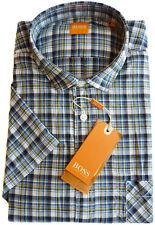%%% Hugo Boss Camisa manga corta T. M, forma: ezipoe NARANJA