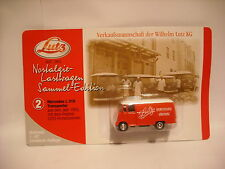 Haute vitesse MERCEDES L 319 Transporter Van Lutz WURSTWAREN Gunzburg échelle 1/87