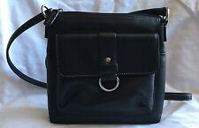 FOSSIL Black Leather Small Crossbody Purse Bag-VERY NICE