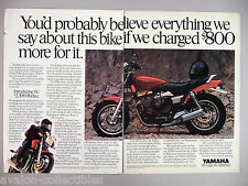 Yamaha Radian Motorcycle Double-Page PRINT AD - 1986