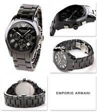 NEW GENUINE EMPORIO ARMANI AR1400 MENS CERAMIC BLACK  CHRONOGRAPH WATCH