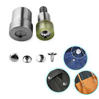 Double Cap Rivet Fixing Dies with Green Machine for Sewing Repair Clothing Purse