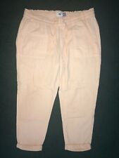 Women's Old Navy Linen/Rayon Relaxed Jogger Pants Peach Size Medium Orange Coral