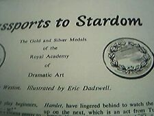 news item 1960 article royal academy dramatic arts kay weston