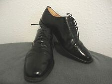 MENS LOAKE BLACK LEATHER LACE UP CLASSIC CAP-TOE SHOE 821B/SIZE 11 F