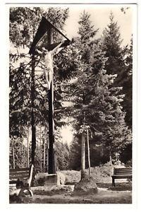 AK, Friedensweiler, Kreuz auf dem Kalvarienberg, 1956