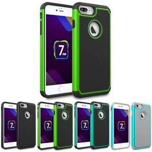 For Apple iPhone 7 Plus / iPhone 8 Plus Hybrid Grid Armor Case Skin Phone Cover
