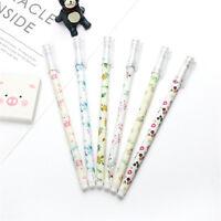6pcs Cute Cartoon Flowers Floral Gel Ink Roller Ball Point Pen School Kids Pens