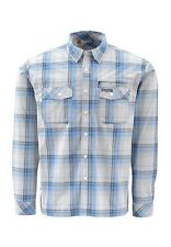 Simms KENAI Long Sleeve Shirt ~ Wave Plaid NEW ~ Size Small ~ Closeout