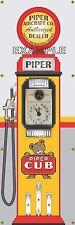 PIPER CUB AIRCRAFT CO OLD TOKHEIM GAS PUMP BANNER DISPLAY SIGN MURAL ART 2' X 6'