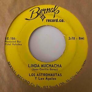 Tejano Rock 45 LOS ASTRONAUTAS Linda Muchacha/Comezon De Amor Bernal HEAR