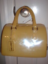 NWT Furla Candy Bag Handbag Satchel Jelly Bag Senape Yellow