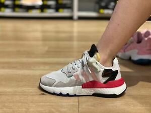 Adidas Nite Jogger White/Black/Pink for Women Size US 7