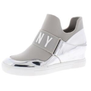 DKNY Womens Cosmos Silver Fashion Sneakers Wedges 6.5 Medium (B,M) BHFO 6338