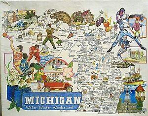 """""""MICHIGAN"""" Water Winter Wonderland Points of Interest 550+ Piece Jigsaw Puzzle"""